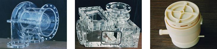 アクリル、塩ビ、PC、AAS材によるダクト、容器の設計製作、モックアップ全般、見本、サンプル、実験、研究備品の設計製作